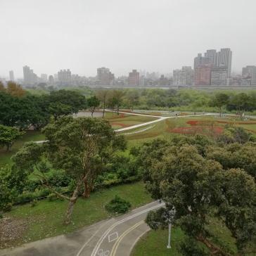 Bike paths along river