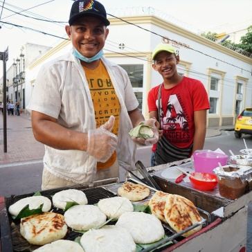Hungry? These guys had incredible arepa (corn based snack)